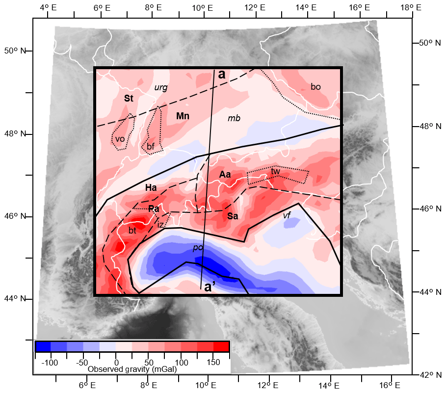 SE - Density distribution across the Alpine lithosphere