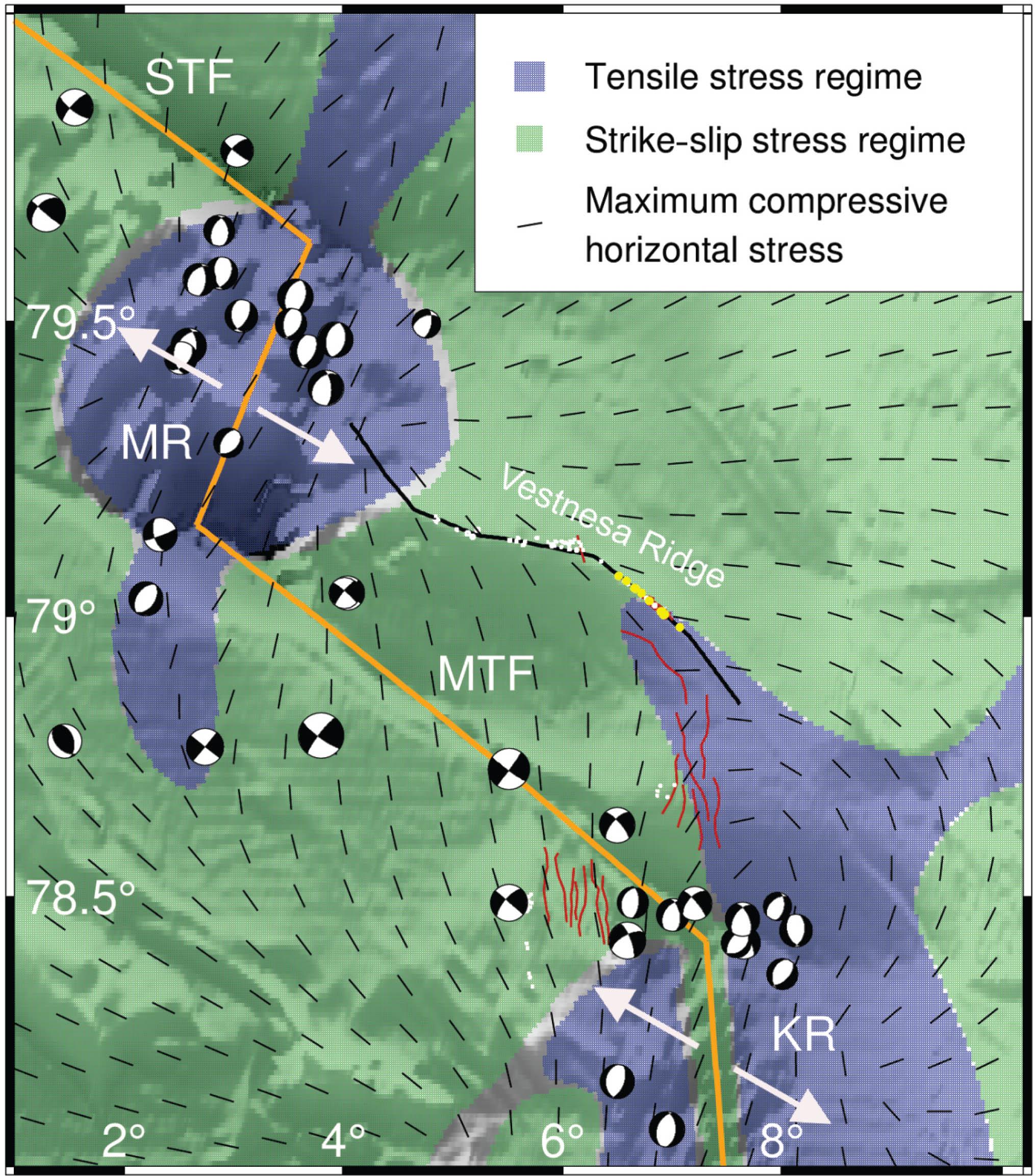 SE - Correlation between tectonic stress regimes and methane
