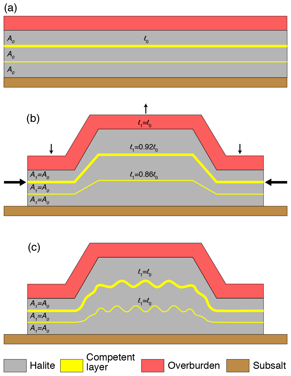 SE - Deformation of intrasalt competent layers in different modes of