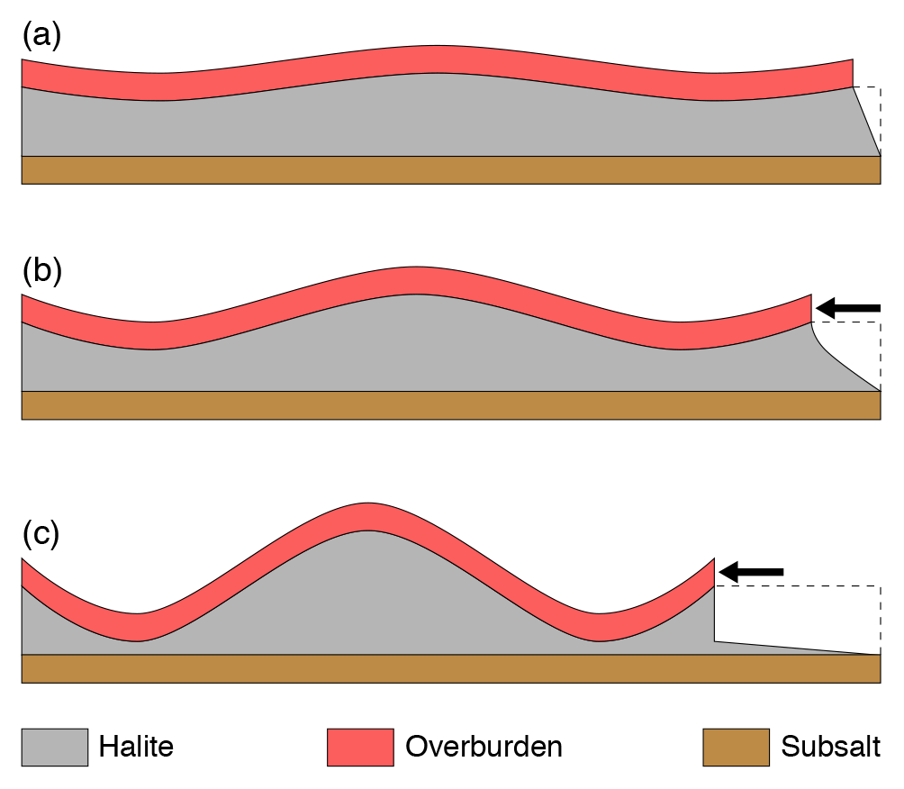 SE - Deformation of intrasalt competent layers in different